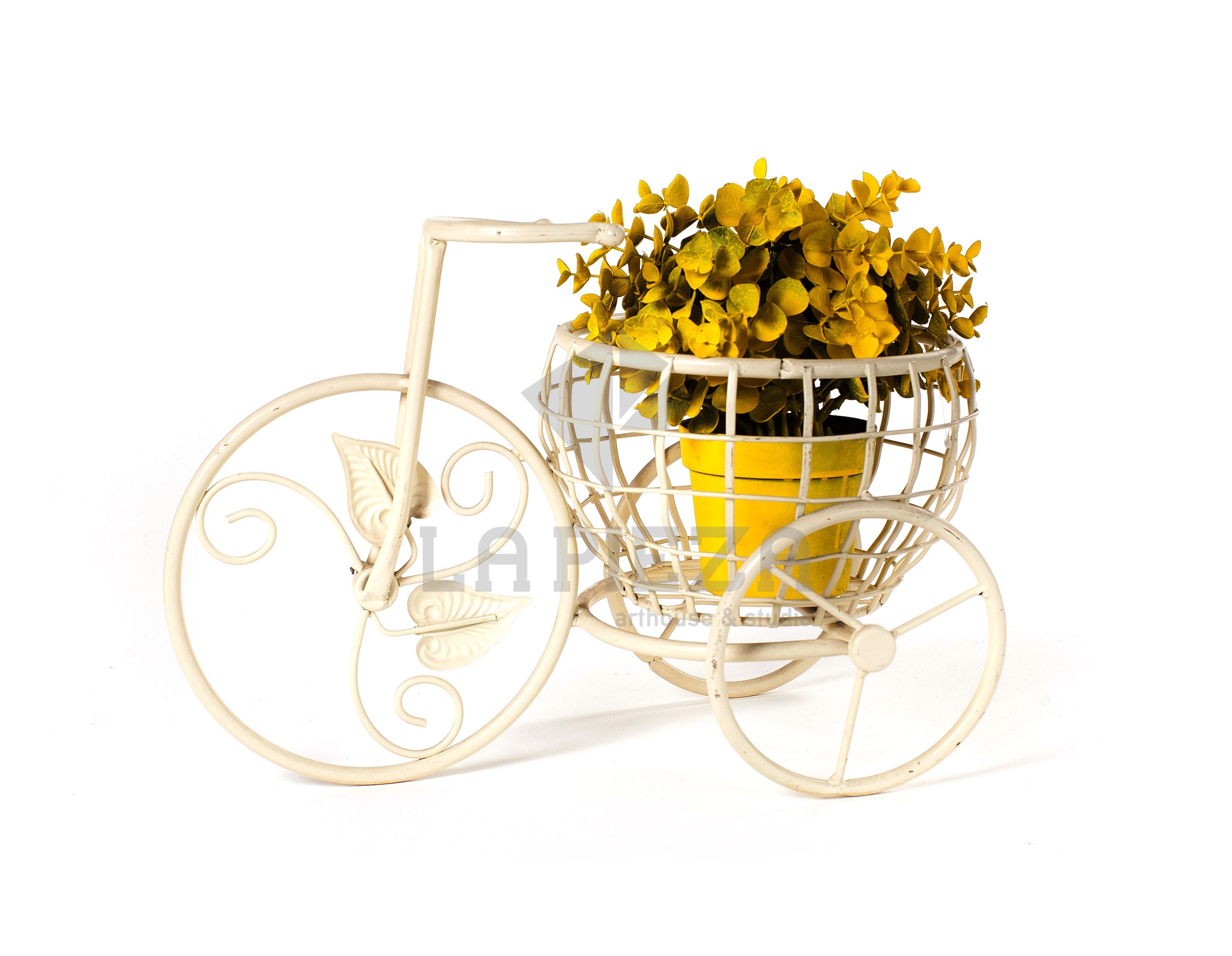 Bicicleta de hierro porta macetero la pieza - Bicicleta macetero ...